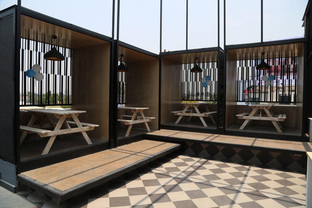 The coolest veranda at MarketOne; in MarketOne India's stylish new office