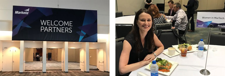 What a welcome to the Partners Day and Linda attending the Women in Martech lunch at Marketo's Marketing Nation Summit