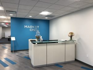 MarketOne's new reception