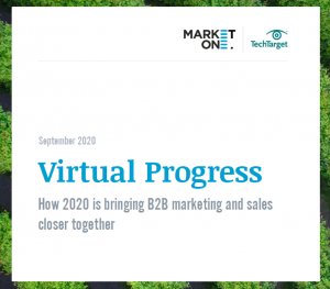Virtual Progress How 2020 is bringing B2B marketing and sales closer together